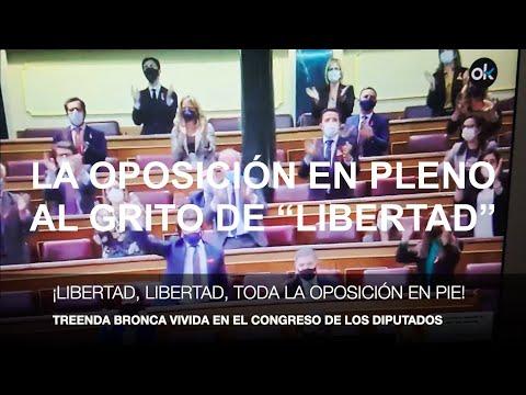 """¡TREMENDA BRONCA EN EL CONGRESO! TODA LA OPOSICIÓN EN PIE GRITANDO """"LIBERTAD"""""""