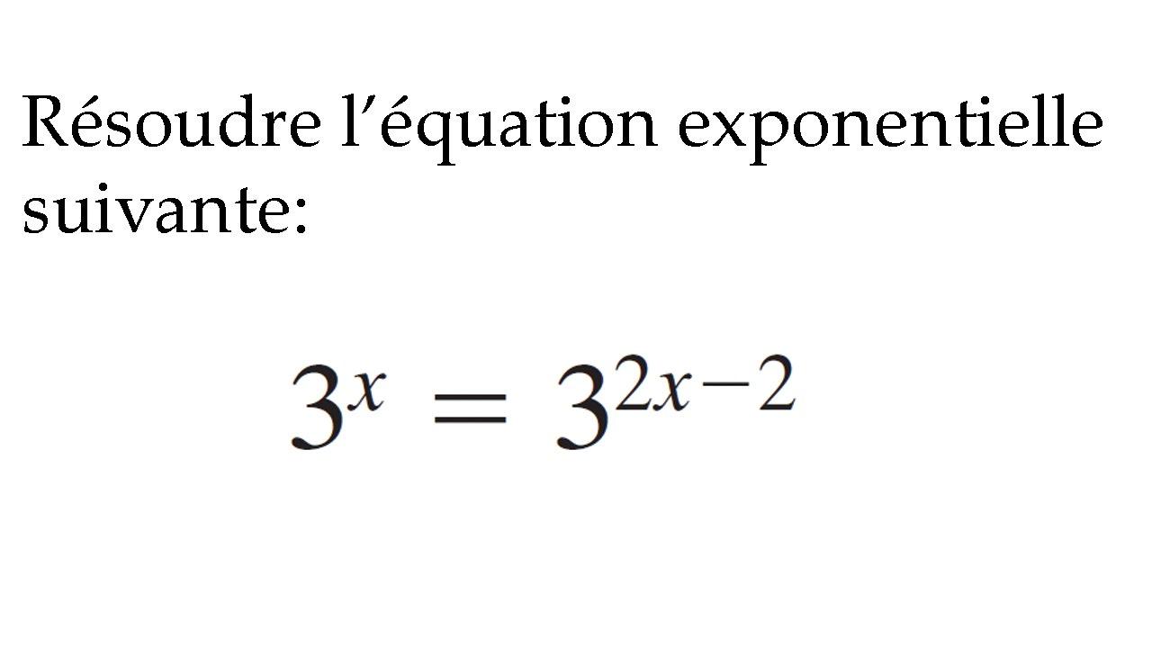 Beliebt Exercice #1 -Résoudre équation exponentielle - Mathématique  EP37