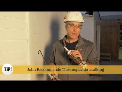 How to apply exterior caulking properly...
