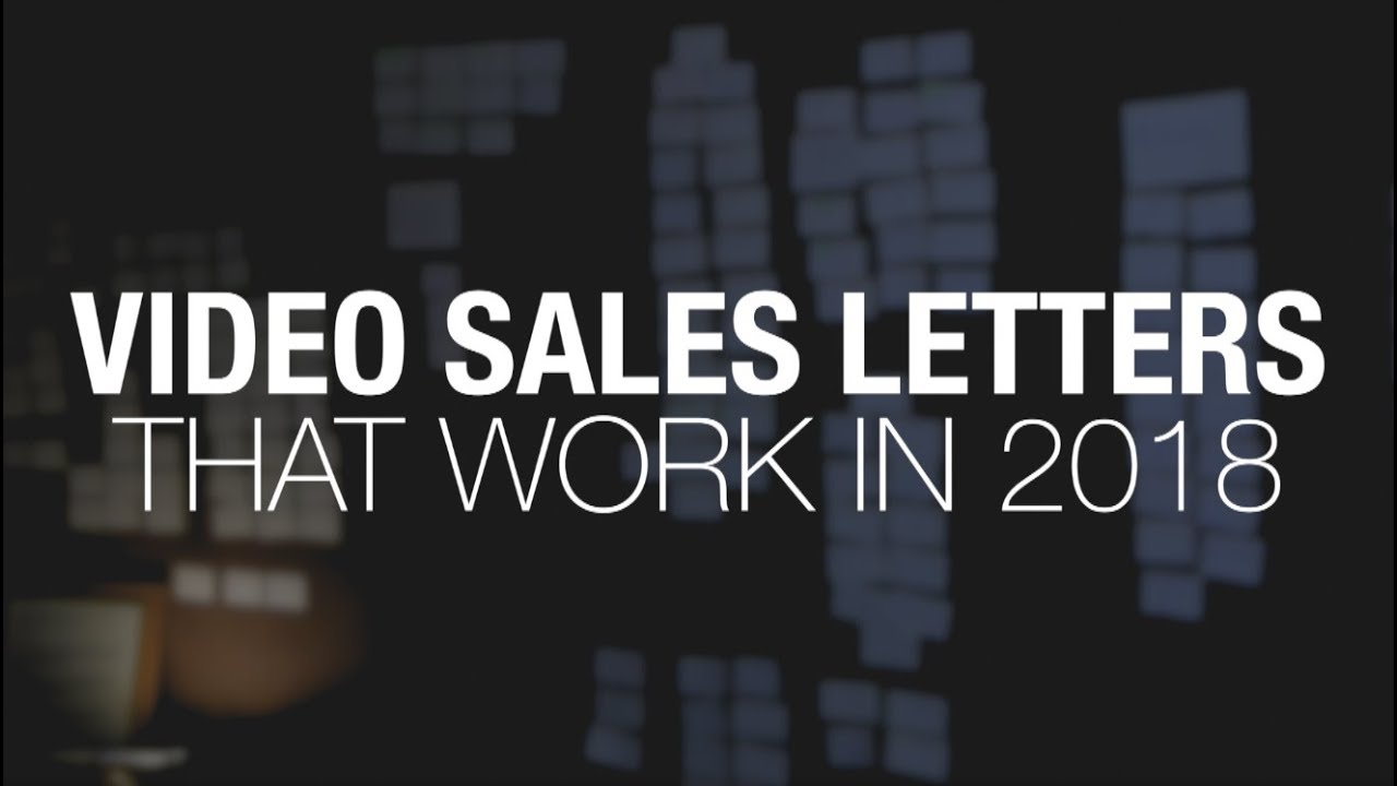 Video Sales Letter Copywriting That Works In 2018 Youtube