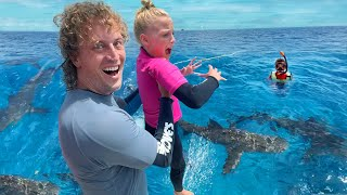 Swimming with SHARKS! Overcoming Fear!