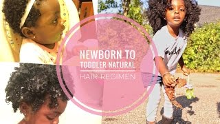 Newborn To Toddler Natural Hair Regimen