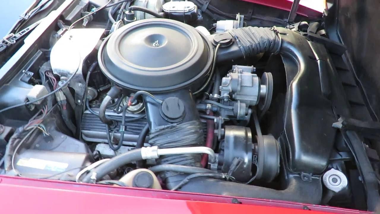 1980 Corvette Engine Startup 350ci - YouTube