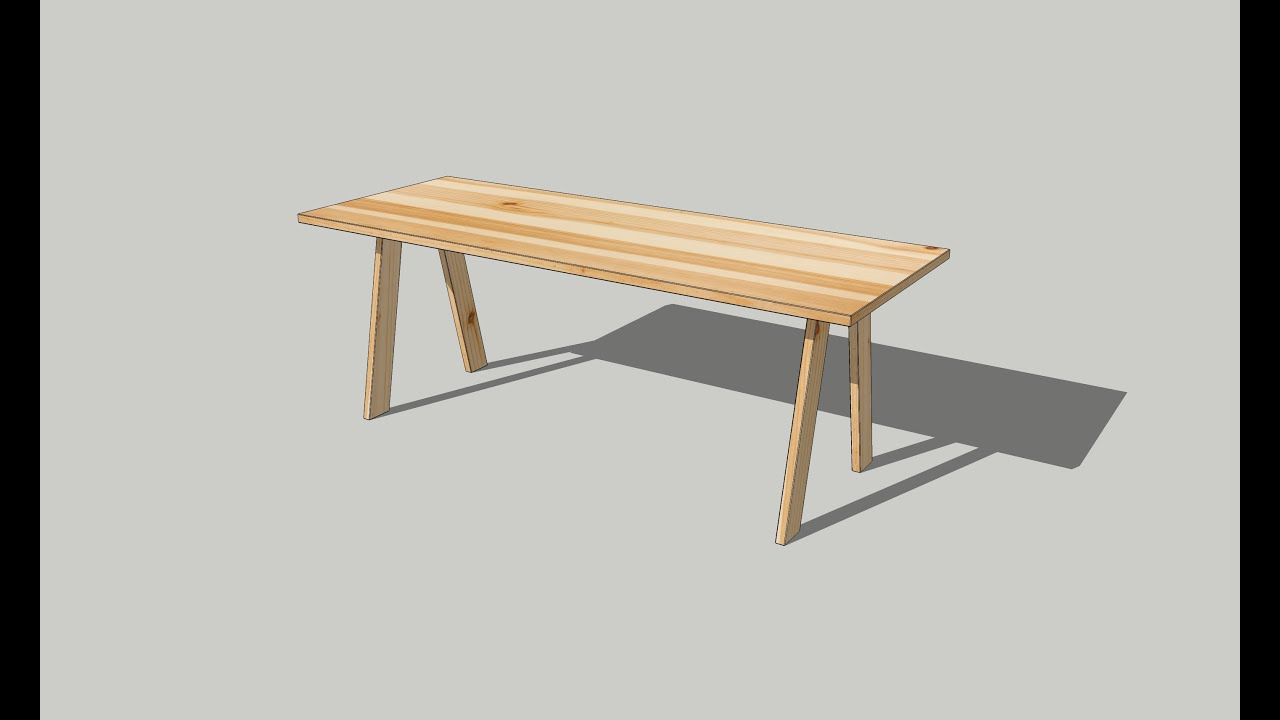 How To Draw Wood Table On SketchUp / Interior Part 01