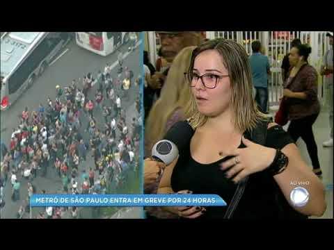 Greve do metrô prejudica 4 milhões em São Paulo