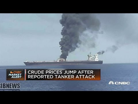 Footage captures aftermath of Gulf of Oman tanker attack