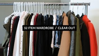 Minimalist Wardrobe Declutter: 32 Pieces for the Year