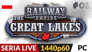 Railway Empire PL - DLC: Great Lakes  Live #1  Kanada i nietypowe problemy