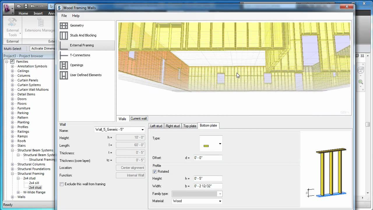 An Overview of Revit Wood Wall Framing Extension - YouTube