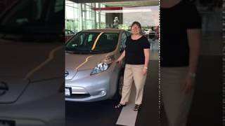 2017 Nissan Leaf delivery at Georgesville Nissan