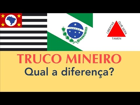 Truco Mineiro X Paulista X Paranaense