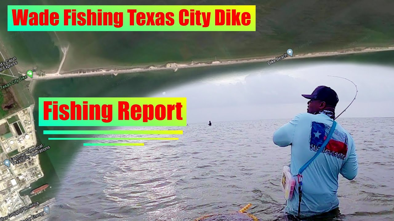 Texas City Dike Wade Fishing and Fishing Report plus Quick Fish in Galveston