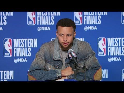 Stephen Curry Postgame Interview - Game 1 | Trail Blazers vs Warriors | 2019 NBA Playoffs