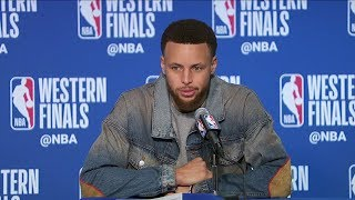 Stephen Curry Postgame Interview - Game 1 | Trail Blazers vs Warriors | 2019 NBA Playoffs