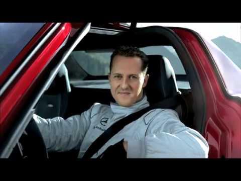 Mercedes Benz SLS AMG Tunnel Experiment with Michael Schumacher