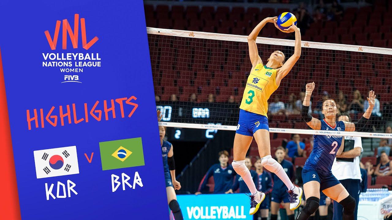 KOREA vs. BRAZIL -  Highlights Women | Week 3 | Volleyball Nations League 2019