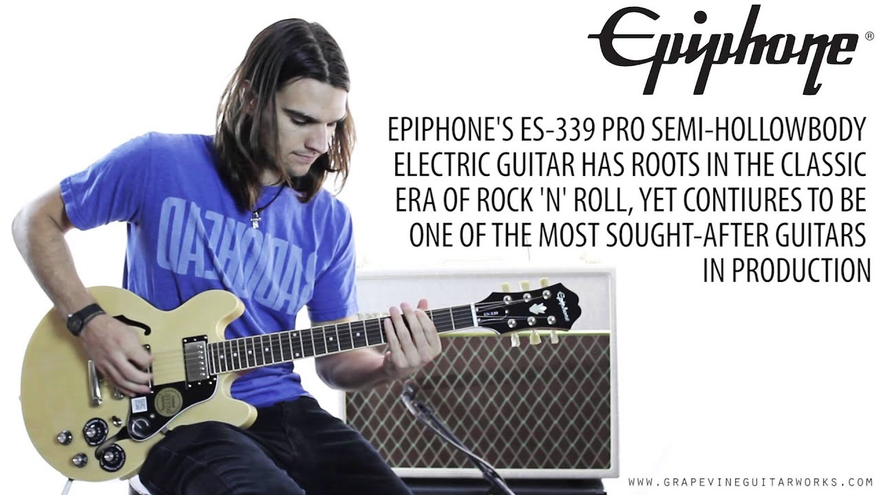 epiphone es 339 pro semi hollowbody electric guitar youtube. Black Bedroom Furniture Sets. Home Design Ideas