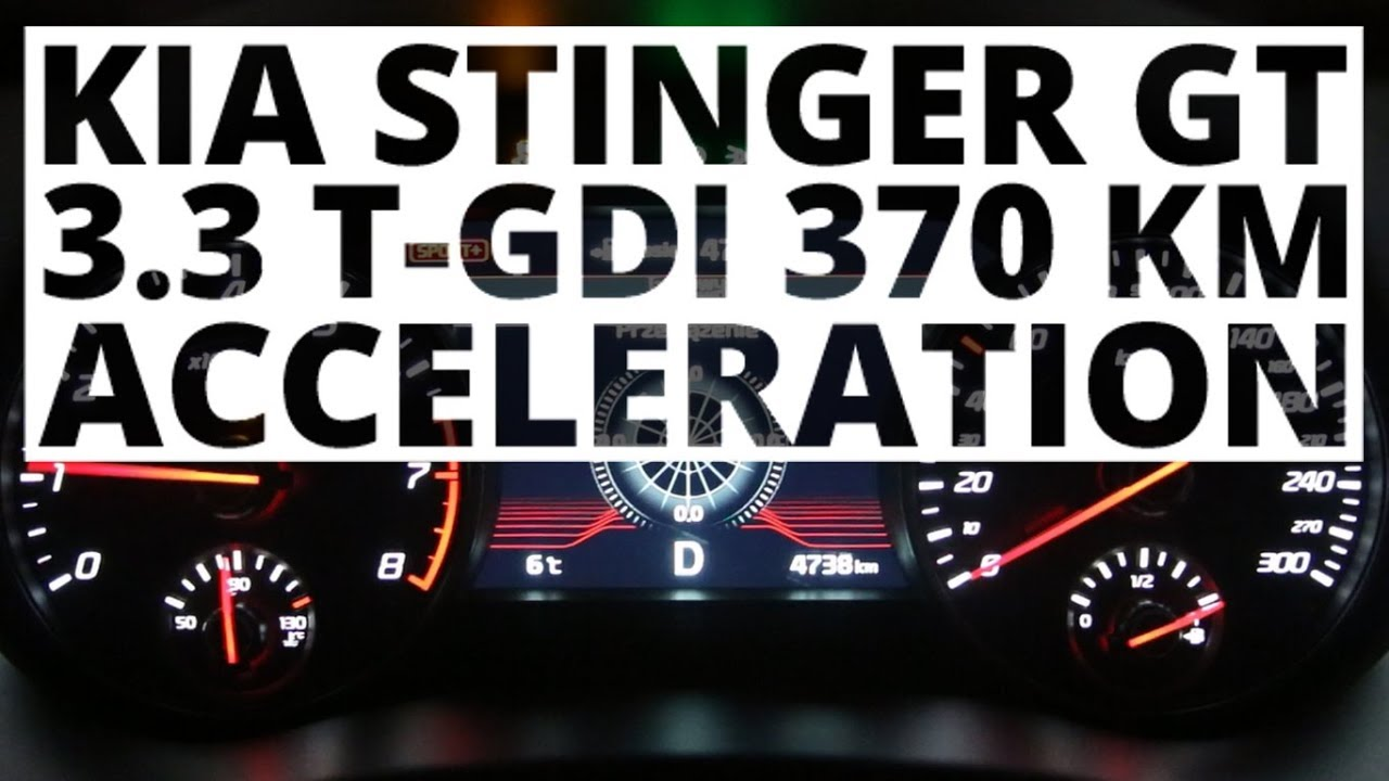 Kia Stinger GT 3.3 T-GDI 370 KM (AT) – acceleration 0-100 km/h