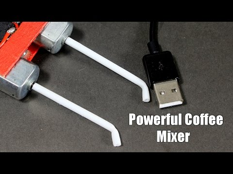 Thumbnail: How to make Powerful Usb Electric Coffee Mixer at Home