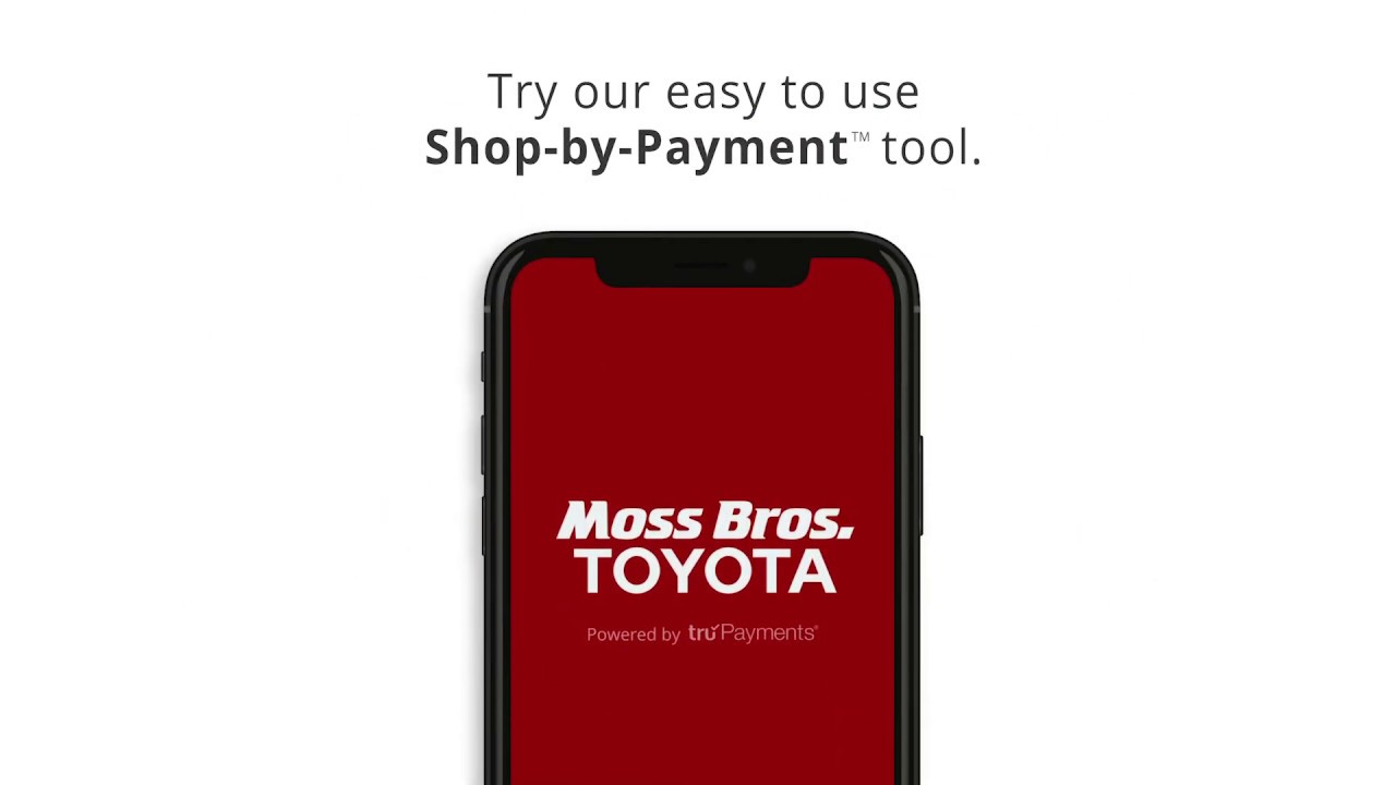 Moss Bros Toyota Shop By Payment