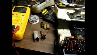 Repair of a GE portable AM tube radio from the late '50's