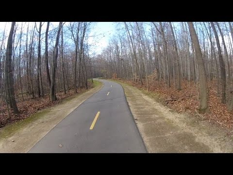 Bike Trainer Video 7 - Indoor Cycling Training ( Paved, curvy cycling path )