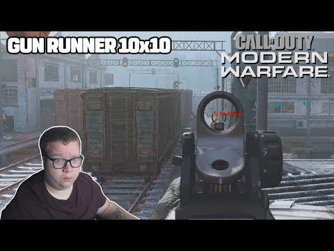 COD MW: TESTANDO 10x10 NO MAPA GUN RUNNER - YouTube