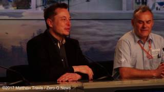 SpaceX Falcon 9 /  SES-10 Historic Reflight Postlaunch Press Conference With Elon Musk