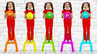 Five little monkeys jump and playing | 동요와 아이 노래 | 어린이 교육 | Polina Fun