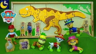 Paw Patrol Toys Digging for Dinosaur Bones Puzzle Surprise Toys Kinetic Sand Toy Videos for Kids