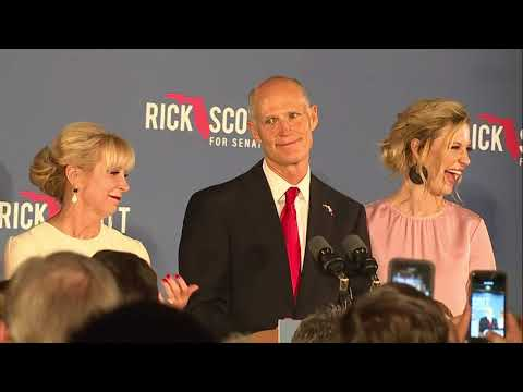 \'I\'m going to look to the future,\' Florida Gov. Rick Scott says after Senate win