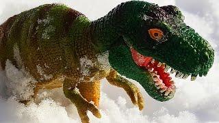 ДИНОЗАВРЫ. Мультфильм про динозавров. Леопард спасает животных от Динозавра Тираннозавра Рекса!