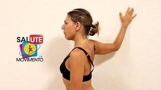 Stretching per il muscolo pettorale(Insieme a Michela, personal trainer di SaluteInMovimento, vediamo un semplicissimo esempio di come possiamo allungare il muscolo pettorale, anche a casa., 2016-03-20T17:29:21.000Z)