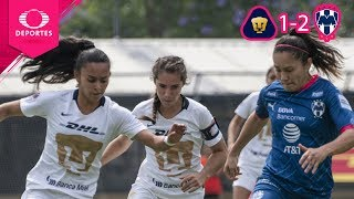Voltereta regia | Pumas 1 - 2 Rayadas | CL 2019 - Cuartos - Liga Mx Femenil | Televisa Deportes