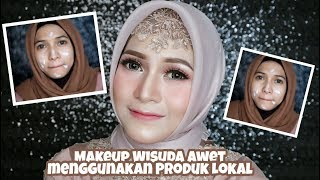 Makeup Wisuda Awet pakai Produk Lokal Murah Banget & Tutorial Hijabnya