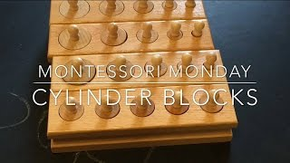 Montessori Monday | Ep: 3 Cylinder Blocks (toddler 17 Months)