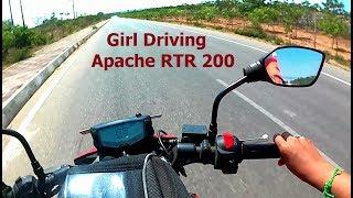 Girl Driving Apache RTR 200
