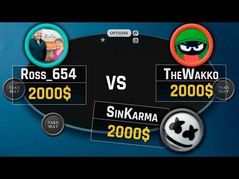 Zeros Vs TheWakko & Ross_654   Poker Battle #01