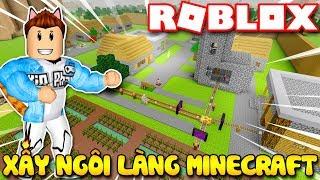 Roblox | KIA XÂY DỰNG NGÔI LÀNG MINECRAFT TRONG ROBLOX - Minecraft 🌳 Tycoon | KiA Phạm