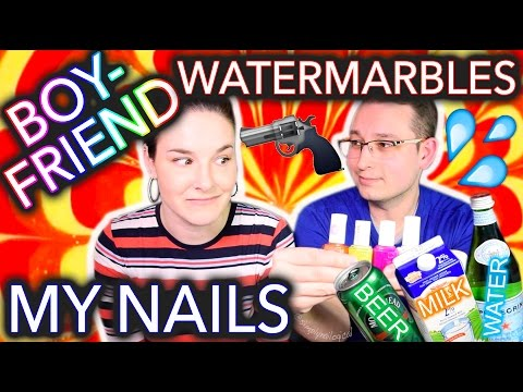 Thumbnail: My Boyfriend Watermarbles my Nails WITH BEER?!
