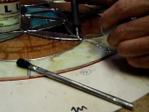 how to soldering iron stained glass 2c dichroic glass man youtube. Black Bedroom Furniture Sets. Home Design Ideas