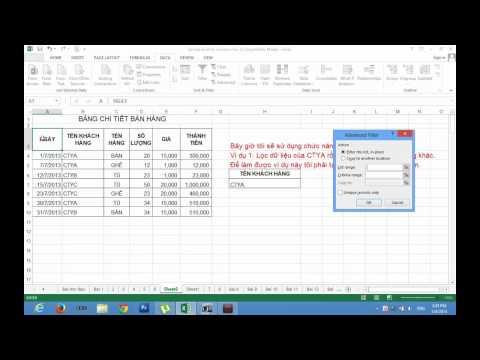 Excel 2013 - Cách Lọc Dữ Liệu (Rút Trích) Bằng Công Cụ Filter Và Filter Advanced