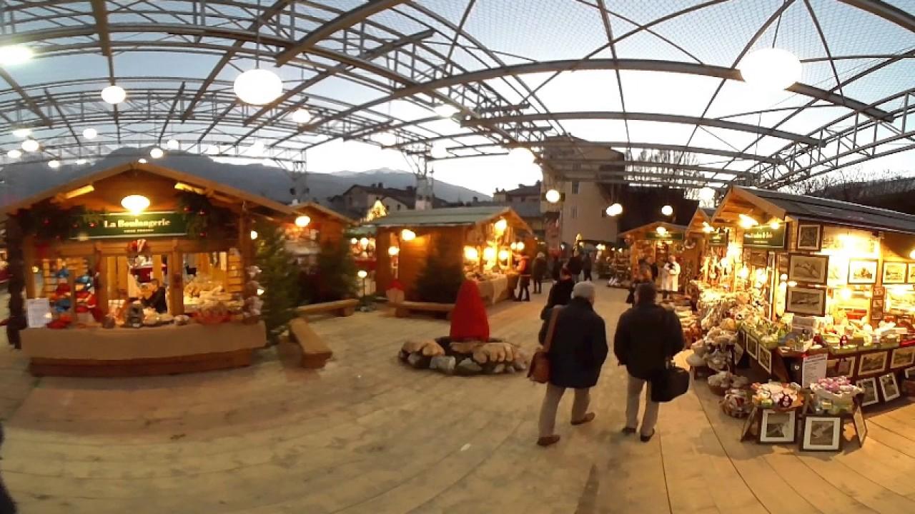 Mercatini Di Natale Aosta.Aosta Mercatino Di Natale 2016 Video 360