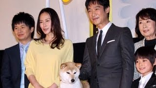 中谷美紀、堺雅人登場!「ひまわりと子犬の7日間」初日舞台あいさつ