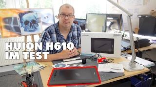 Grafik Tablet für Einsteiger: Huion H610 pro im Test / Review