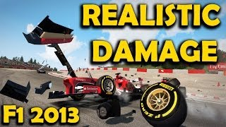 REALISTIC DAMAGE - F1 2013 PC Mod Showcase
