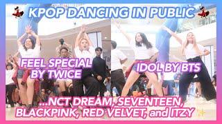 K-POP DANCING IN PUBLIC (TWICE, BLACKPINK, RED VELVET, ITZY, BTS, NCT DREAM, AND SEVENTEEN) 💃🏻✨