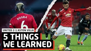 Bring It On Liverpool   5 Things We Learned vs Aston Villa   MUN 2-1 AST