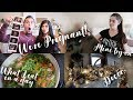 We're Pregnant! Mini try-on haul, Christmas decor, What I Eat in a Day! | Vlog style