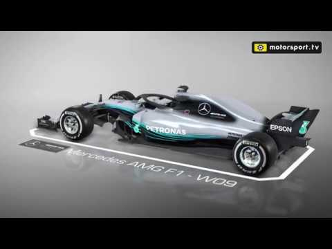 A Detailed Look At The Mercedes W09 F1 Car Youtube